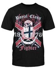 Royal class Fighter T-Shirt Fight camisa MMA boxeo intergalactico Inglaterra Shield Skull