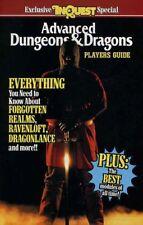ADVANCED DUNGEONS DRAGONS PLAYERS GUIDE  EXC+! INQUEST D&D TSR Handbook D&D AD&D