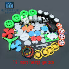 Toy motor gear pack 112 plastic gear axle motor tire combination pack