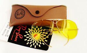 Vintage B&L Ray Ban USA Kalichrome Shooters,Wrap-Around 62-14 Glasses  w/ Case