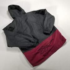 VTG 90s REEBOK Pullover Anorak Windbreaker Jacket MEDIUM cotton Black Maroon