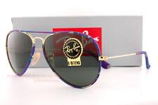 Brand New Ray-Ban Sunglasses RB 3025JM Aviator 172  Multicolor/Green G-15