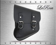 La Rosa Black Leather Harley V Rod Night Rod Special Left Solo Mount Saddle Bag