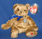 TY NIGEL the BEAR BEANIE BABY - UK BEALES EXCLUSIVE - MINT with MINT TAGS