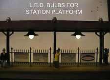Warm White LED Lamp Replacement kit, (bulbs) - Lionel Lighted Station Platforms