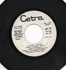 GIANNI PETTENATI disco 45 giri CALDO CALDO stampa ITALIANA promo JUKE BOX 1969