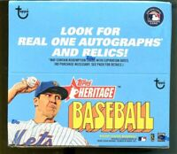 2021 Topps HERITAGE Baseball SEALED Retail BOX 24 Pack Real One SP Auto  ??