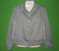 Louis Feraud blazer jacket cotton blend gray long sleeve size 14 US / 18 UK