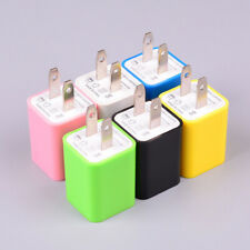 US Plug Travel Wall Charger Dual Port Power Adapter USB Charger For Cell Phone**