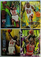 "Lot of 4: Michael Jordan Skybox Z-Force 96-97 & 2 ""Zupermen"", Sharp MJ Cards!"