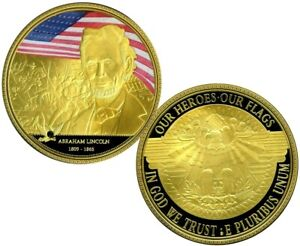 ABRAHAM LINCOLN COLOSSAL COMMEMORATIVE COIN PROOF VALUE $139.95