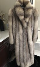 Womens Real Fox Fur Coat/Jacket Medium-Large. 8-10.  Not Mink Sable Lynx