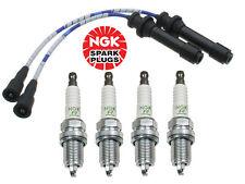 Mazda Protege 1999-2001 1.6L Spark Plug ZFR5F11 + Blue Wire Set NGK 4448 / ZE 53