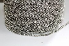 10ft Nickel Silver 3mm Rolo Chain 1-3 day shipping