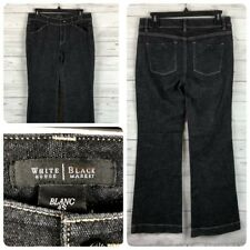 White House Black Market Women's Jeans Dark Blanc Boot Flare Denim Size 4S