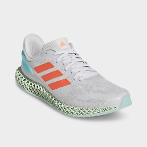 Adidas 4D Run 1.0 Running Shoes Grey / Coral / Blue Size 10 FW1230