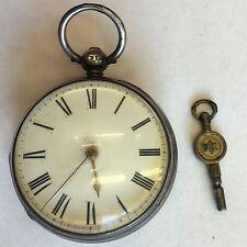 Antico In Argento FUSEE Orologio da taschino da Fisher Giavone comune ST non funzionante 1846