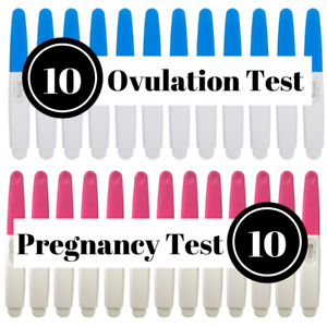 Early Pregnancy and Ovulation Test Kit 20PCS Midstream Sticks LH HCG Lot BFP TTC
