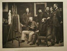 Atelier Aux Batignolles 1870 Manet Monet Renoir Original Antique Fantin Latour
