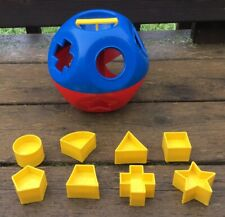 Vintage Tupperware Shape-O-Ball Child's Toy w/ 8 Different Shapes NICE