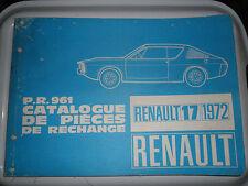 RENAULT 17 SPARE PARTS WORKSHOP MANUAL 17TL 17TS R1312 R1313 R1322 R1323 17 TL T