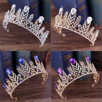 Wedding Bridal Retro Crystal Queen Tiara Crown Headband Princess Hair