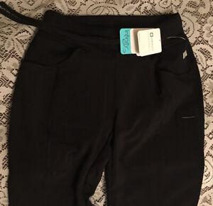 Cherokee Infinity 2XS Black Stretch Scrub Pants Style 1123A Drawstring NEW