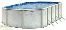 """New listing Pool 12' x 18' Oval x52"""" Above Ground Galvanized Steel Blue Free Ship"""