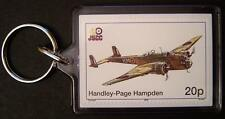 RAF HANDLEY PAGE HAMPDEN HP.52 WWII Bomber Aircraft Stamp Keyring