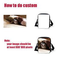 Custom Small Messenger Women Kids Satchel Cross Body Bag Sling Shoulder Purse