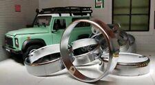 Land Rover Series 3 Defender 90 110 Light Chrome Brass Rim Trim Set Retro x8