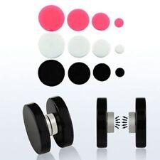 10 x Magnetic Fake Flesh Plugs Ear Stretchers Earrings Body Jewellery WHOLESALE