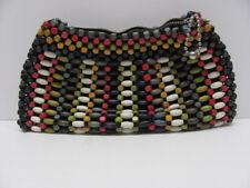 Vintage Czechoslovakia made Wooden Beaded Handbag/Purse Rare 1930-40