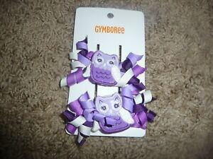 NEW NWT Gymboree Whooo's Cute purple Owl Hair Clips one size