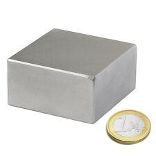 Imanes de Neodimio en bloque 50 x 40 x 30 mm. Fuerza 179 KG. Imán Super Potente