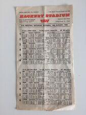 Vintage Hackney Stadium Greyhound Dog Racing Programme 16th August 1986
