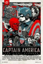 Tyler Stout Captain America First Avenger Mondo Screen Print / Poster Framed!