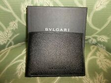 BVLGARI BLACK LEATHER MENS WALLET NEW WITH TAGS IN BOX 20313 BIFOLD WALLET