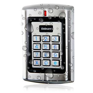 Sebury Metal Waterproof Stand-alone Access Keypad Wiegand 26 for 125Khz EM Card