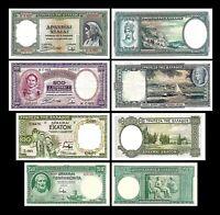 2x  50, 100, 500, 1.000 Drachmai - Ausgabe 01.01.1939 - Reproduktion - 32