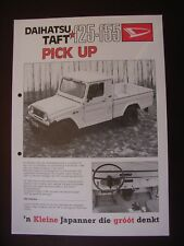Daihatsu Taft F25-F55 Pick-Up Prospektblatt / Sales sheet, NL, selten