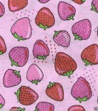 Tutti Frutti Strawberries Pink Quilt Fabric - Free Shipping - 1 Yard
