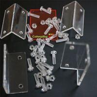 4 x transparente L-Winkel aus poliertem Perspex-Acryl + 20 x M5-Schrauben