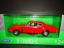 Welly Oldsmobile 442 1968 Red 1/24