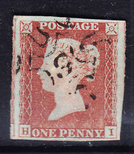 GB QV SG8m 1d red imperf No 9 in Maltese Cross fine used 4 margs 3 large cat£180