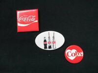 Coca-Cola Set of 3 Coca-Cola Pin Buttons - BRAND NEW