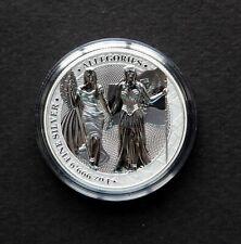 2019 The Allegories Columbia & Germania 5 Mark 1 oz 999.9 Silver, COA, Airtite
