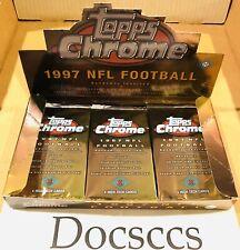 1997 Topps Chrome NFL Football Trading Cards 1 Pack Lot Sealed