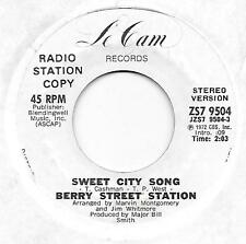 "NORTHERN SOUL- BERRY STREET STATION on LeCam - ""SWEET CITY SONG""  promo - [VG+]"