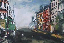 Listed French Artist Maurice Vlaminck, Lithograph & Pochoir
